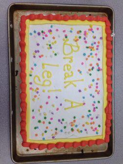 Opening night cake!
